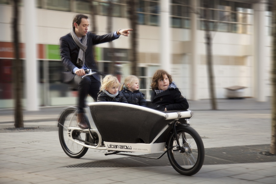 Kindertransport mit dem Urban Arrow