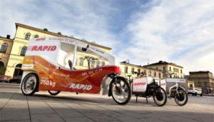 Cargobike-Fuhrpark von Rapid Kuriere in München