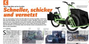 Cargobike-Rubrik in Special-E Ausgabe Nr. 4