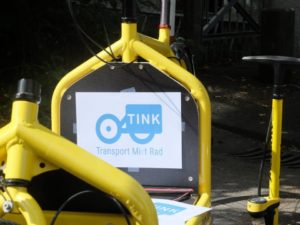 """TINK - Transport Mi(e)t Rad"" - Testaktion in Konstanz 2015."