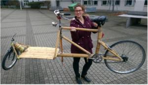 "Projektergebnis des kompass Teams ""Purda Vida"": Ein Cargobike-Prototyp aus Bambus"