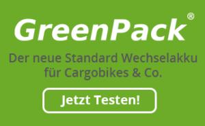 GreenPack supporter Banner auf cargobike.jetzt
