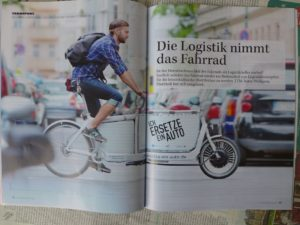 Cargobike-Beitrag im LT-manager 03/2016