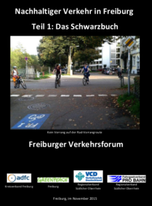 Titelseite Schwarzbuch Nachhaltiger Verkehr in Freiburg