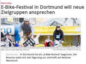 WAZ online zum Dortmunder E-BIKE Festival