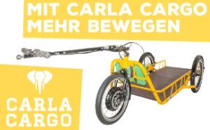 Banner Carla Cargo auf cargobike.jetzt