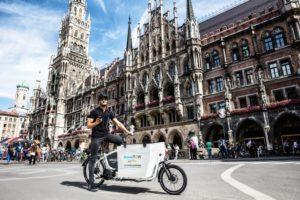 Der kep10 im Einsatz bei Amazon PrimeNow auf dem Münchener Marienplatz