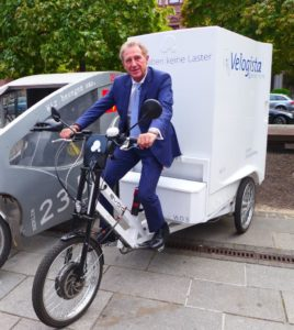 BMVI-Staatssekretär Barthle, Foto cargobike.jetzt