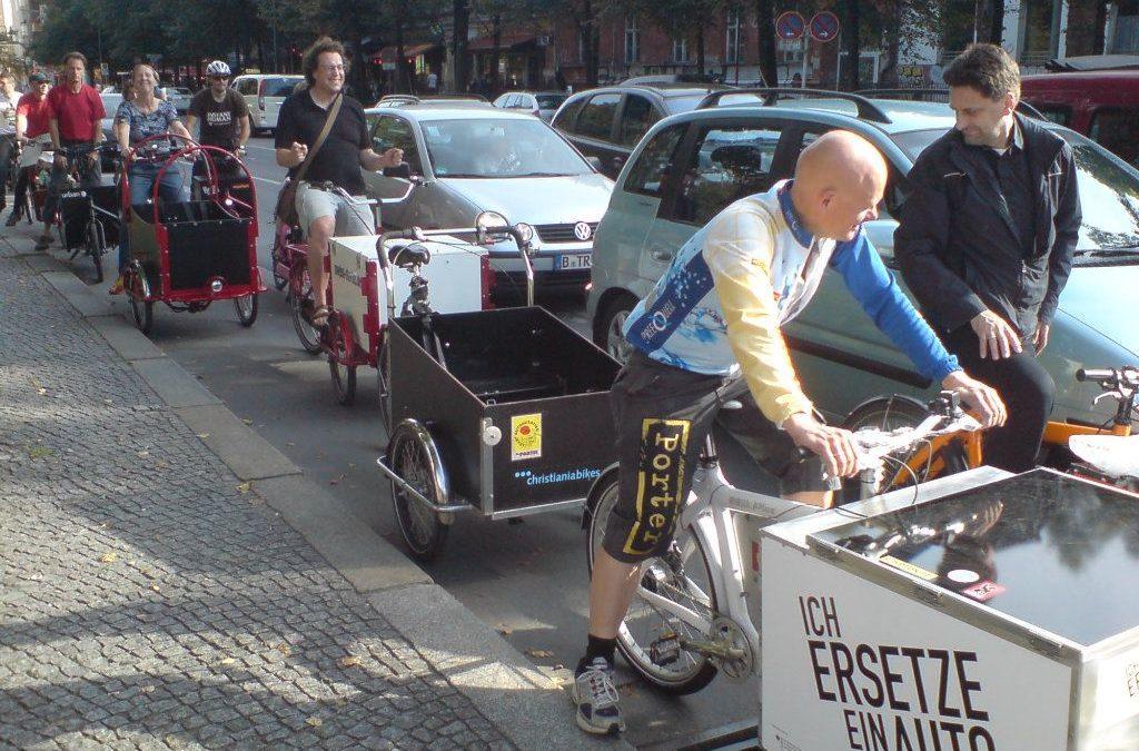 Cargobikes und die Platznot auf Radwegen