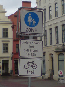 Fußgängerzone in Wismar, Foto: cargobike.jetzt