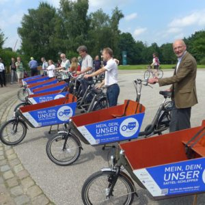 Projektstart TINK in Norderstedt, Foto cargobike.jetzt