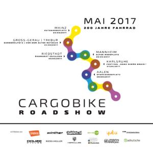 Cargobike Roadshow im Mai 2017 - Stationen und Hersteller