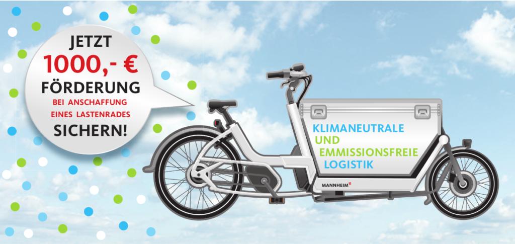 Werbeflyer Cargobike-Kaufprämie der Stadt Mannheim