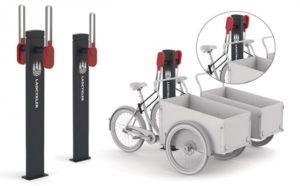 Spezielle Parkbügel für Cargobikes in Kopenhagen