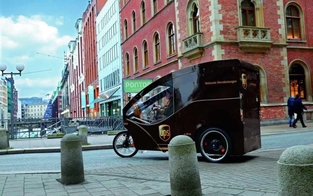 UPS über ideale Cargobikes und Infrastruktur für die Paketzustellung