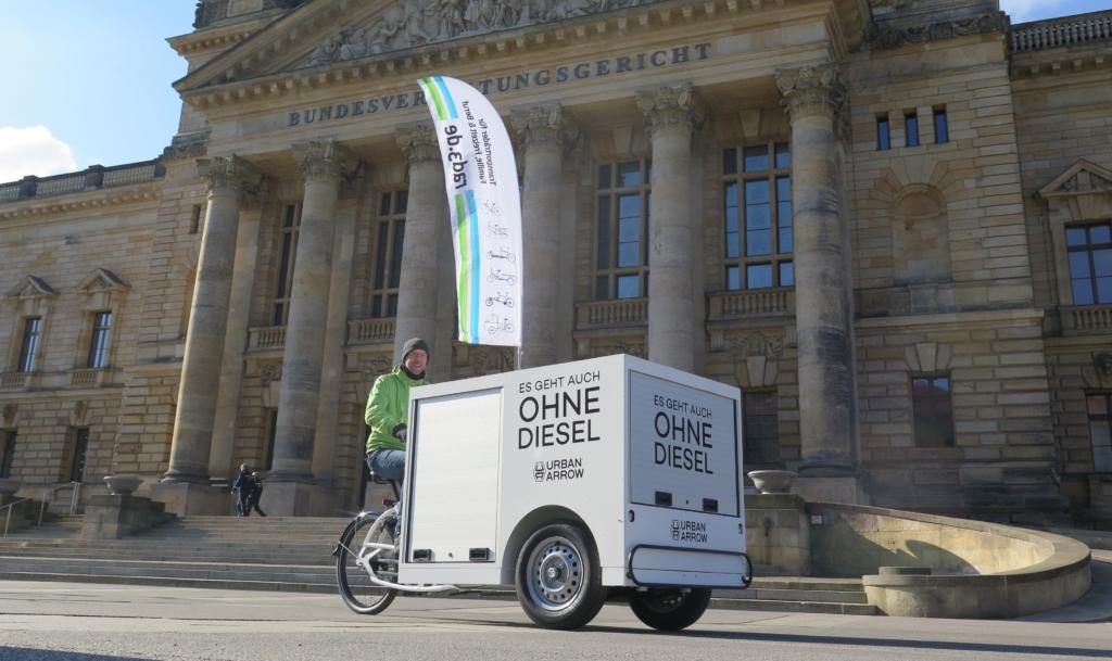 Dieselfahrverbote: Mit Cargobikes zur Urteilsverkündung in Leipzig