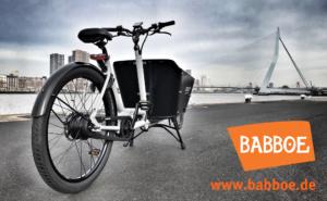 Banner von Babboe auf cargobike.jetzt