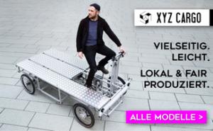 Banner von XYZ Cargo auf cargobike.jetzt