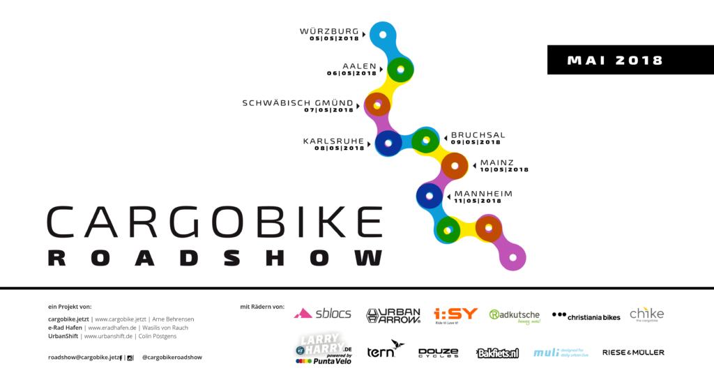 Cargobike Roadshow: Sieben Tage, sieben Städte, zwölf eCargobikes