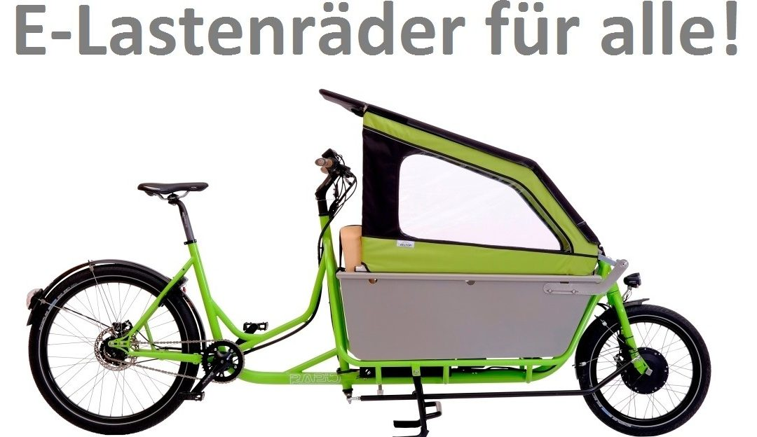 Jetzt auch in NRW und Stuttgart: Kaufprämien für Cargobikes