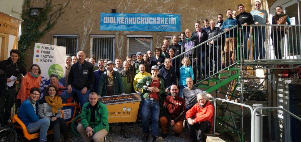 Gruppenbild Forum Freie Lastenräder in Augsburg 2019