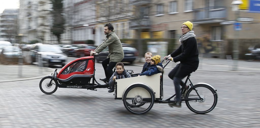 Kindertransport mit dem Cargobike