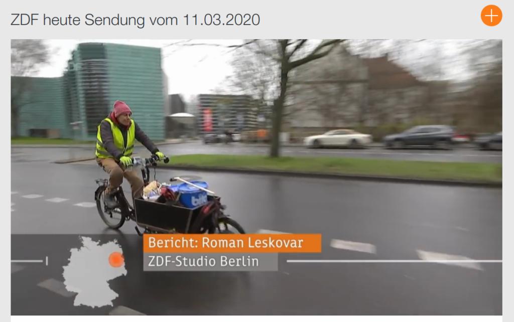 Cargobike-Beitrag in ZDF heute