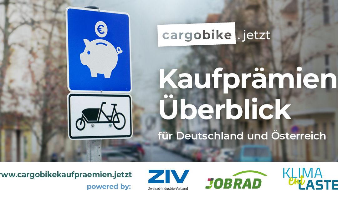 Relaunch: Überblick Cargobike-Kaufprämien