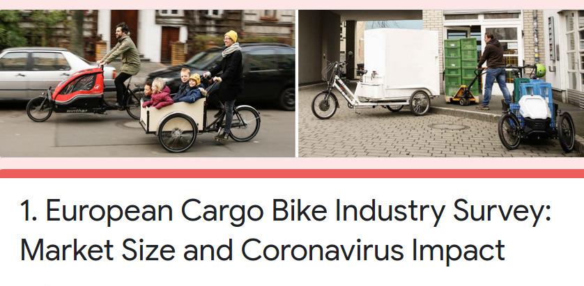 Umfrage: Wie entwickelt sich der europäische Cargobike-Markt?