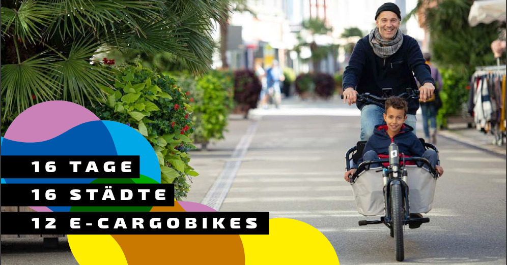 Cargobike Roadshow tourt durch 16 Städte im Südwesten
