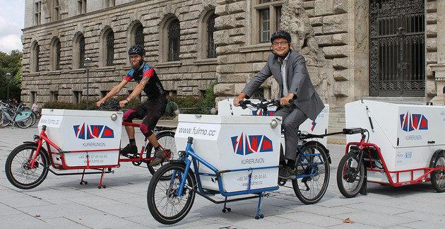 Stadt Leipzig sattelt um: Kurierdienst per Cargobike