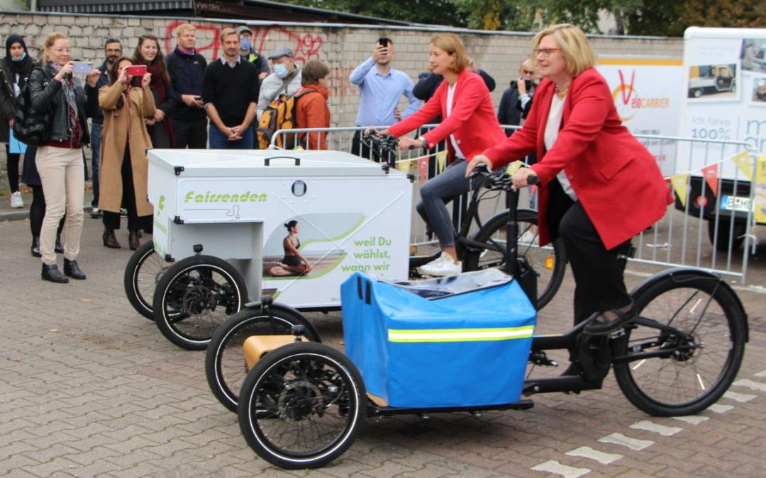 Berlin: Mikrodepot für Radlogistik in Tempelhof-Schöneberg eröffnet