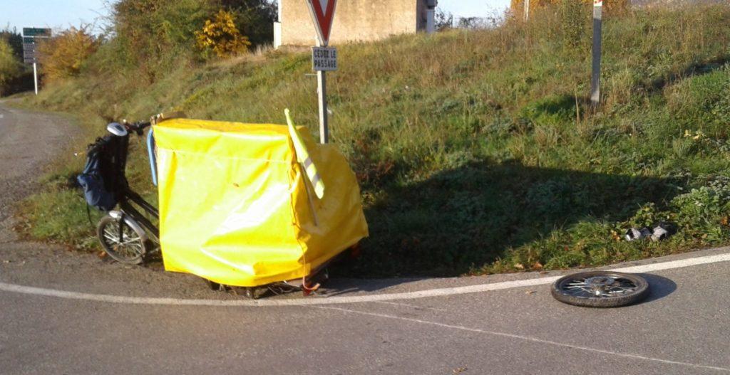 Piano Cargobike Unfall