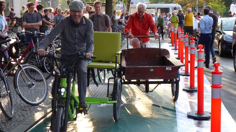foto cargobikes auf fahrradweg