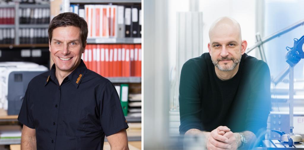 Fahrrdpruefer Dirk Zedler und Marcus Schroeder